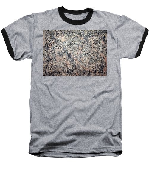 Pollock's Number 1 -- 1950 -- Lavender Mist Baseball T-Shirt by Cora Wandel