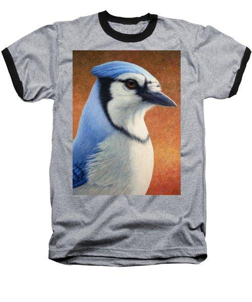 Portrait Of A Bluejay Baseball T-Shirt by James W Johnson