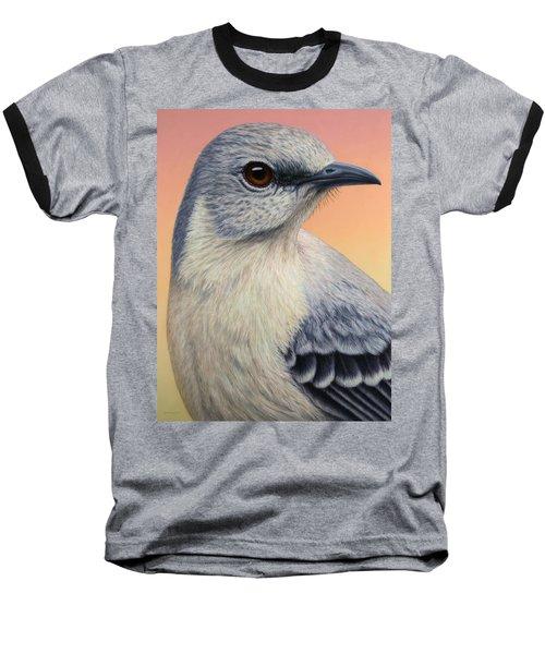 Portrait Of A Mockingbird Baseball T-Shirt by James W Johnson
