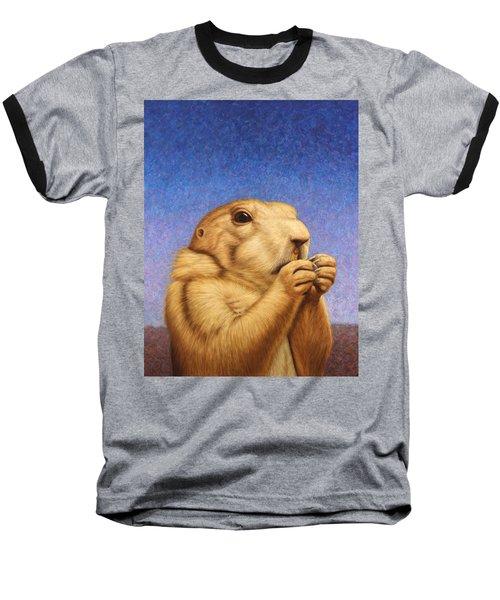 Prairie Dog Baseball T-Shirt by James W Johnson