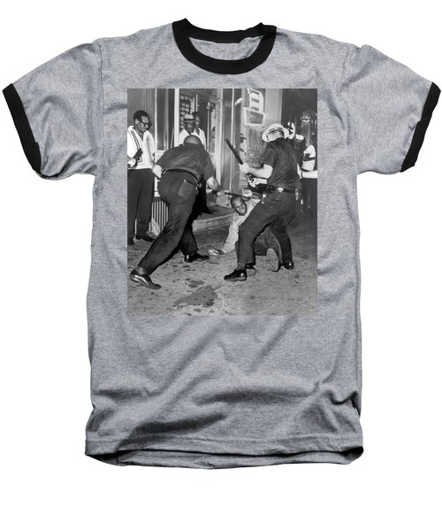 Protester Clubbed In Harlem Baseball T-Shirt by Underwood Archives