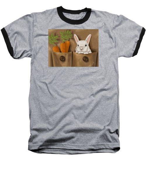 Rabbit Hole Baseball T-Shirt by Veronica Minozzi