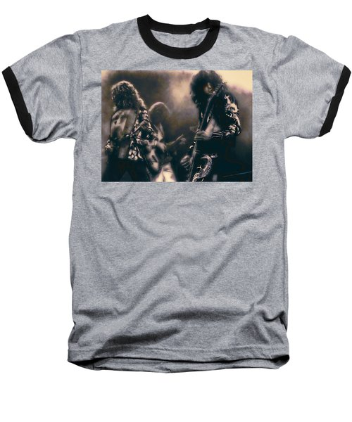 Raw Energy Of Led Zeppelin Baseball T-Shirt by Daniel Hagerman