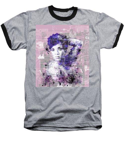Rihanna 3 Baseball T-Shirt by Bekim Art