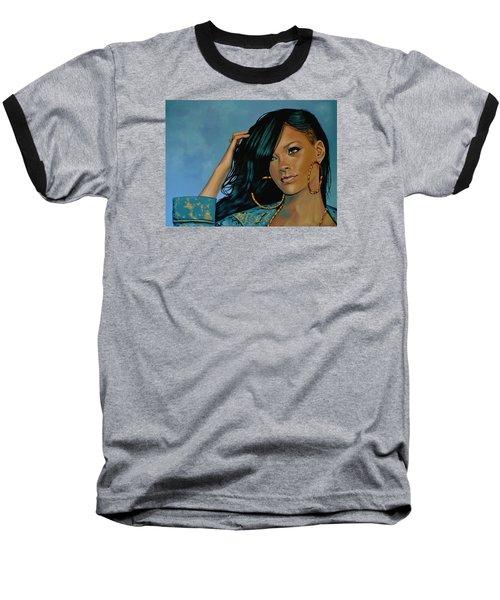 Rihanna Painting Baseball T-Shirt by Paul Meijering