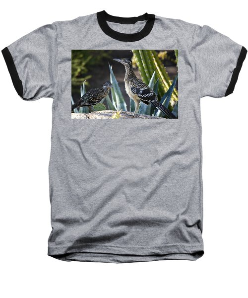 Roadrunners At Play  Baseball T-Shirt by Saija  Lehtonen