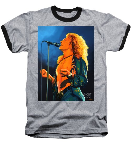 Robert Plant Baseball T-Shirt by Paul Meijering