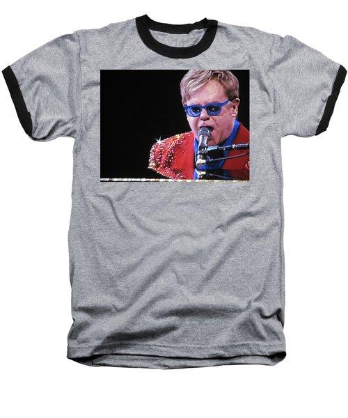 Rocket Man Baseball T-Shirt by Aaron Martens