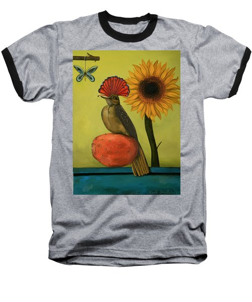 Royal Flycatcher  Baseball T-Shirt by Leah Saulnier The Painting Maniac