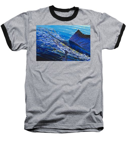 Sail On The Reef Off0082 Baseball T-Shirt by Carey Chen