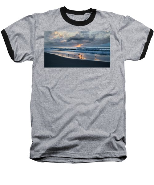 Sandpipers In Paradise Baseball T-Shirt by Betsy Knapp