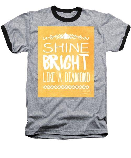 Shine Bright Orange Baseball T-Shirt by Pati Photography