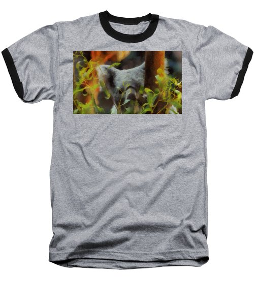 Shy Koala Baseball T-Shirt by Dan Sproul
