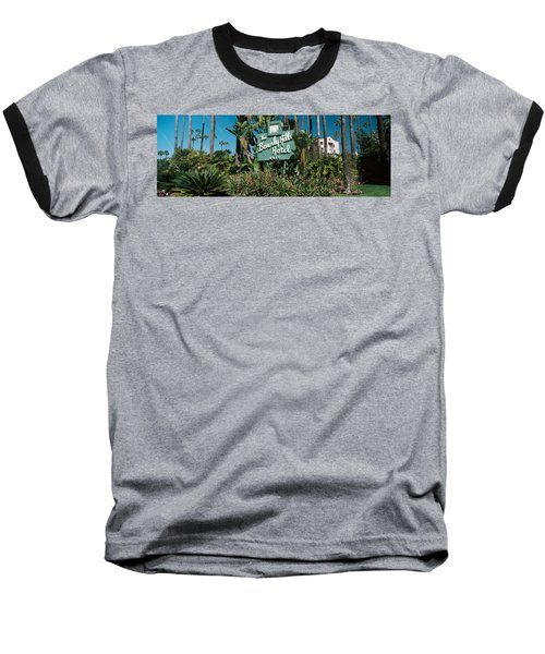 Signboard Of A Hotel, Beverly Hills Baseball T-Shirt by Panoramic Images