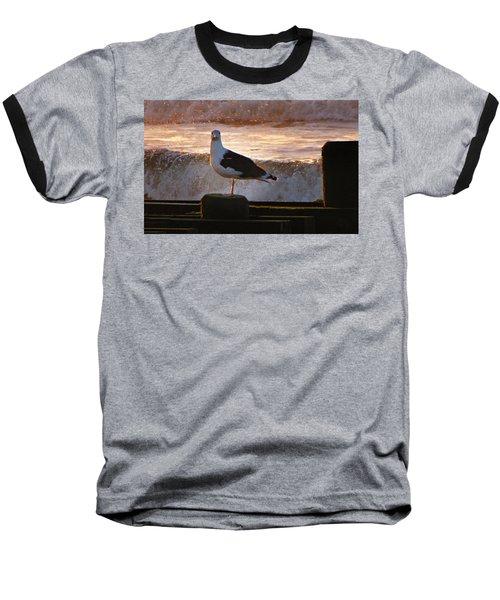 Sittin On The Dock Of The Bay Baseball T-Shirt by David Dehner