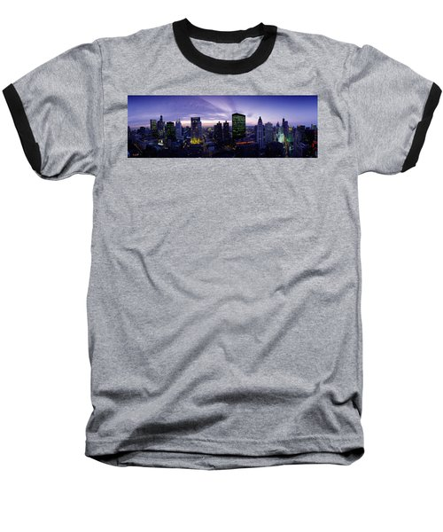 Skyscrapers, Chicago, Illinois, Usa Baseball T-Shirt by Panoramic Images