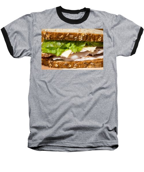 Smoked Turkey Sandwich Baseball T-Shirt by Edward Fielding