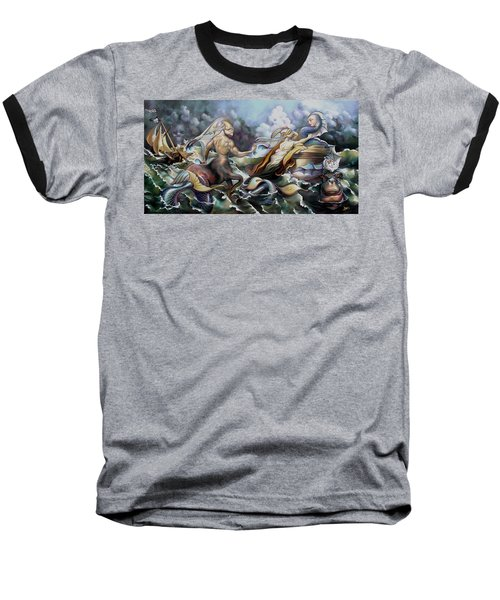 Something Fowl Afloat Redux Baseball T-Shirt by Patrick Anthony Pierson