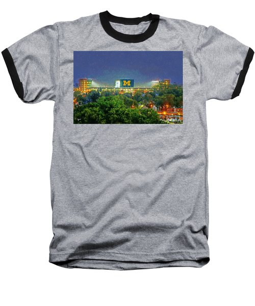 Stadium At Night Baseball T-Shirt by John Farr