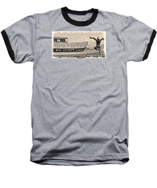 Stadium Cheer Black And White Baseball T-Shirt by Tom Gari Gallery-Three-Photography