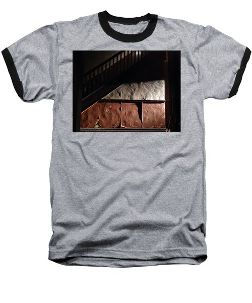 Stairwell Baseball T-Shirt by H James Hoff