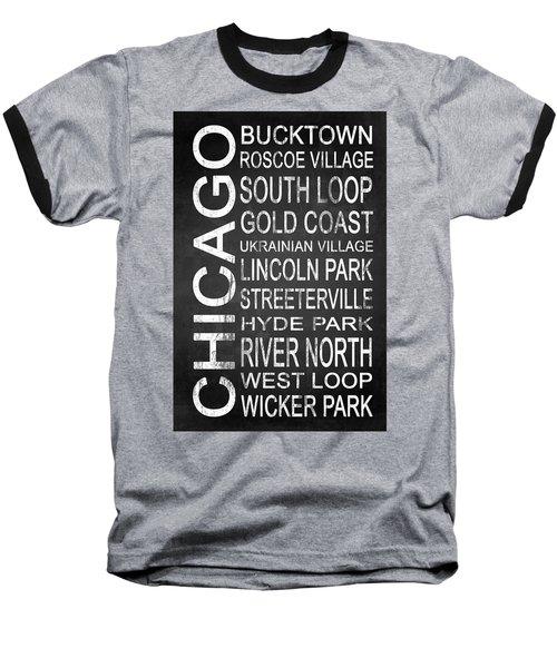 Subway Chicago 2 Baseball T-Shirt by Melissa Smith