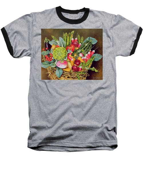 Summer Vegetables Baseball T-Shirt by EB Watts