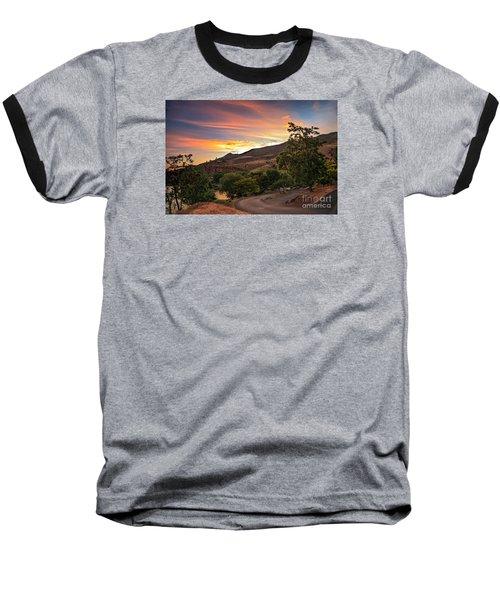 Sunrise At Woodhead Park Baseball T-Shirt by Robert Bales