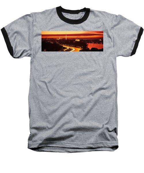 Sunset, Aerial, Washington Dc, District Baseball T-Shirt by Panoramic Images