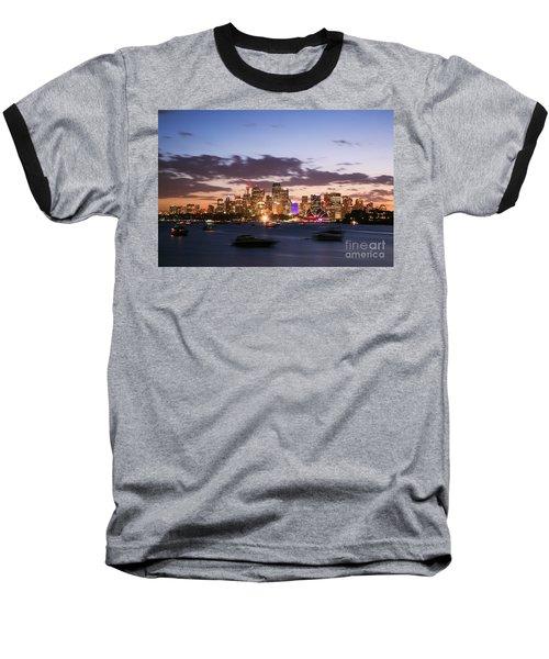 Sydney Skyline At Dusk Australia Baseball T-Shirt by Matteo Colombo