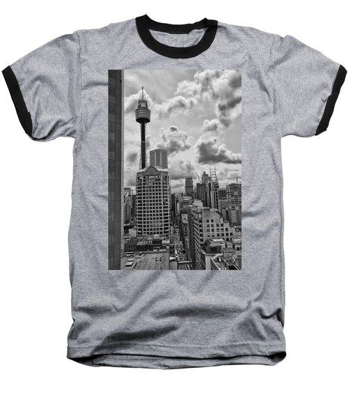Sydney Skyline Baseball T-Shirt by Douglas Barnard