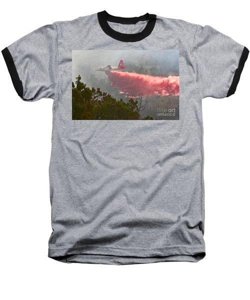 Baseball T-Shirt featuring the photograph Tanker 07 On Whoopup Fire by Bill Gabbert