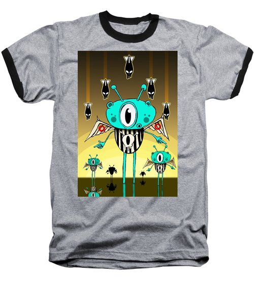 Team Alien Baseball T-Shirt by Johan Lilja