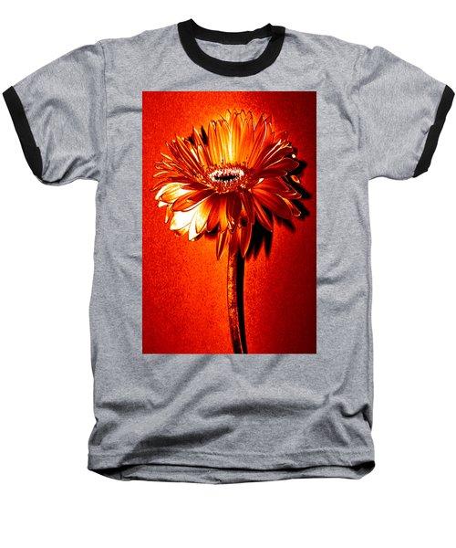 Tequila Sunrise Zinnia Baseball T-Shirt by Sherry Allen