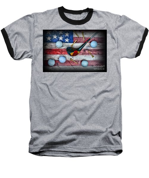 The All American Golfer Baseball T-Shirt by Paul Ward