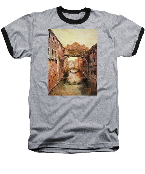 The Bridge Of Sighs Venice Italy Baseball T-Shirt by Jean Walker