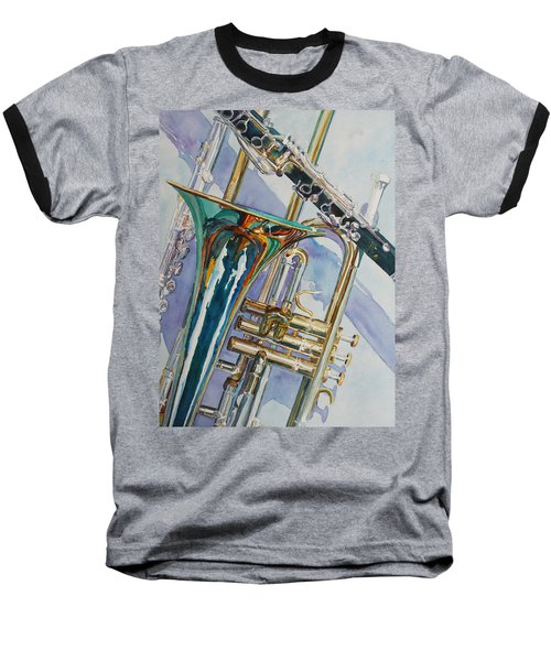 The Color Of Music Baseball T-Shirt by Jenny Armitage