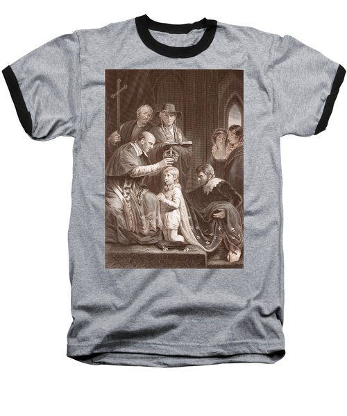 The Coronation Of Henry Vi, Engraved Baseball T-Shirt by John Opie