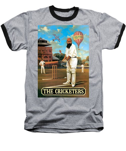 The Cricketers Baseball T-Shirt by Peter Green