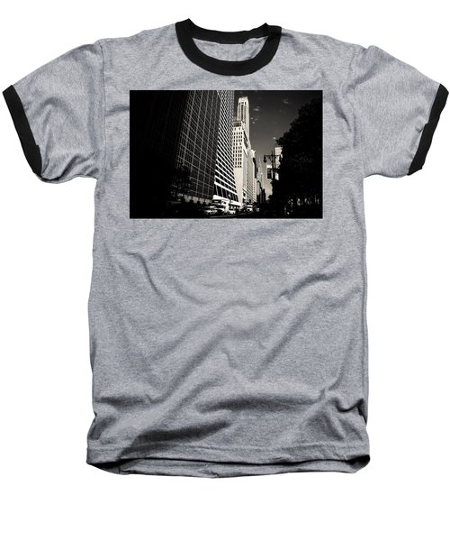 The Grace Building And The Chrysler Building - New York City Baseball T-Shirt by Vivienne Gucwa