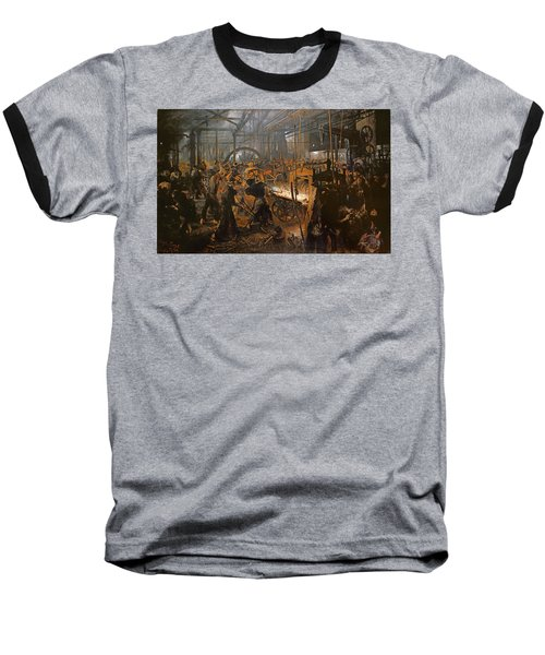The Iron-rolling Mill Oil On Canvas, 1875 Baseball T-Shirt by Adolph Friedrich Erdmann von Menzel