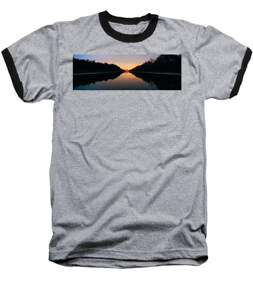 The Lincoln Memorial At Sunset Baseball T-Shirt by Panoramic Images
