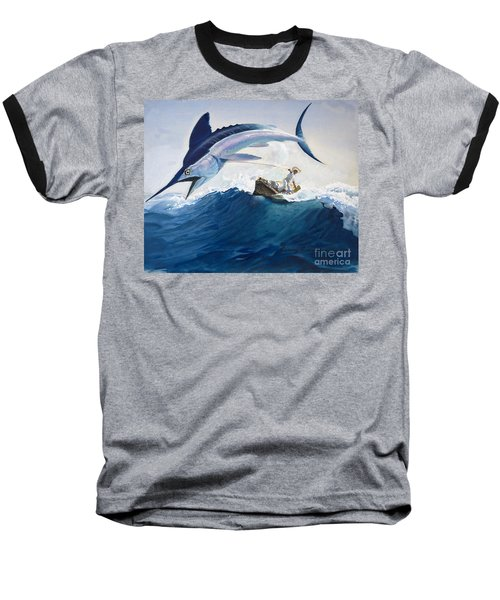 The Old Man And The Sea Baseball T-Shirt by Harry G Seabright