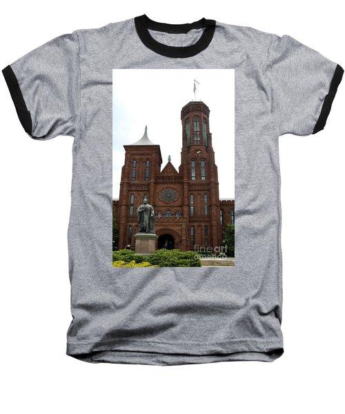 The Smithsonian - Washington Dc Baseball T-Shirt by Christiane Schulze Art And Photography
