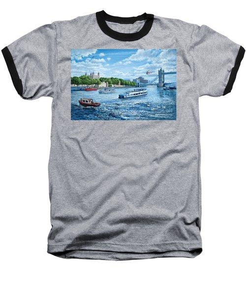 The Tower Of London Baseball T-Shirt by Steve Crisp