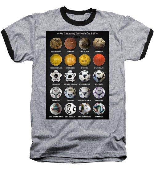 The World Cup Balls Baseball T-Shirt by Taylan Apukovska
