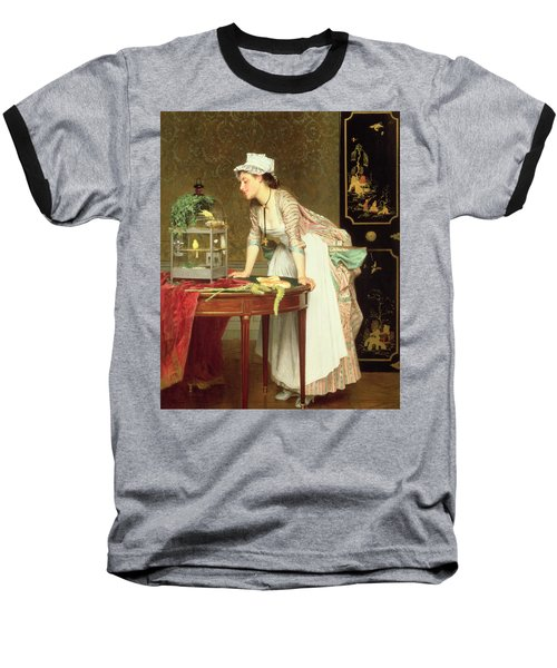 The Yellow Canaries Baseball T-Shirt by Joseph Caraud