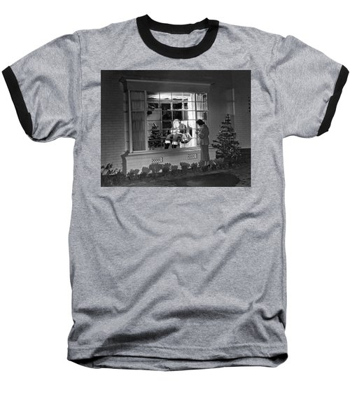 This Beverly Hills Resident Is Putting The Finishing Touches On Baseball T-Shirt by Underwood Archives