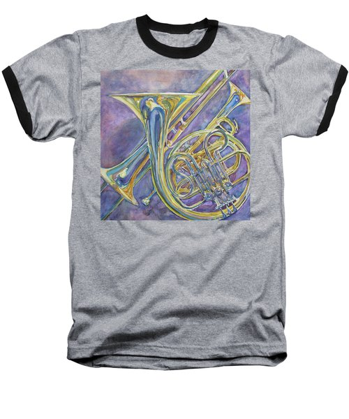Three Horns Baseball T-Shirt by Jenny Armitage