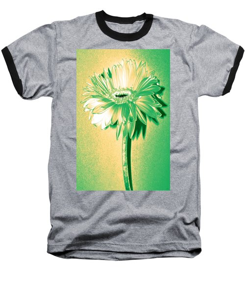 Touch Of Turquoise Zinnia Baseball T-Shirt by Sherry Allen